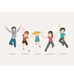 Family jumping eps10 format vector image vector image