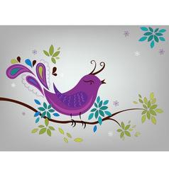 Little violet bird vector image