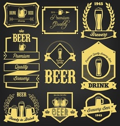 Premium Beer Label Design vector image vector image