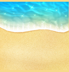 sea beach or ocean shore sand and waves vector image