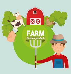 agriculture and farming icon vector image