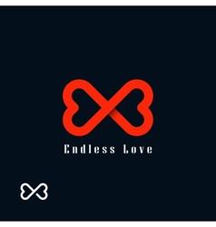 Endless love symbol vector image