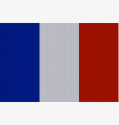 flag of france on knitted woolen texture vector image vector image