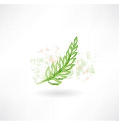 Green grunge icon vector