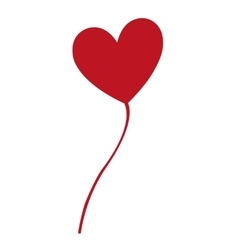 heart balloon party isolated icon vector image