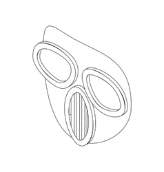 Paintball mask icon isometric 3d style vector image vector image