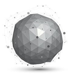 3D abstract design object orbital complicated vector
