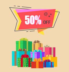 50 off exclusive discount vector
