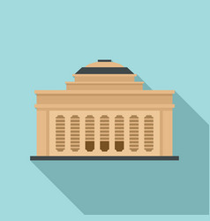 Academy building icon flat style vector
