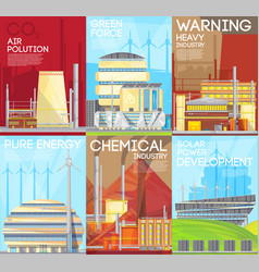 air pollution warning ecological composition vector image