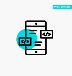 app development arrows div mobile turquoise vector image