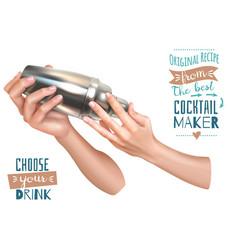 bartender hands vector image