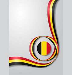 Belgian flag wavy background vector