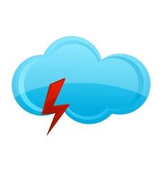 blue cloud symbol vector image