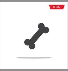 bone icon isolated on white background vector image