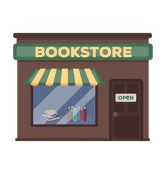 Bookstore icon in cartoon style isolated on white vector