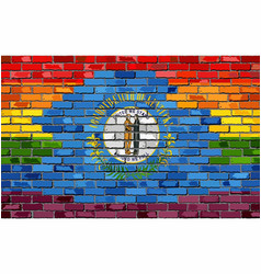 Brick wall kentucky and gay flags vector