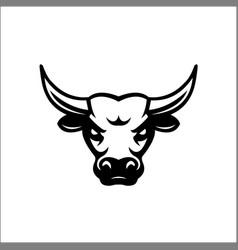bull head mascot buffalo logo vector image