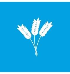 Cereals icon white vector image