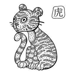 Chinese Zodiac Animal astrological sign Tiger vector