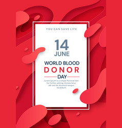 Colorful poster design for june 14 blood donor day vector