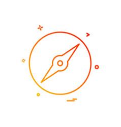 compass icon design vector image