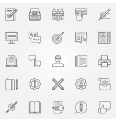 Copywriting icons set vector image