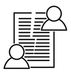 Divorce agreement icon outline style vector