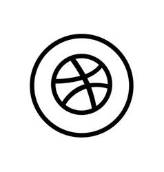 dribble icon design vector image