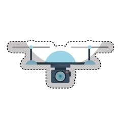 drone technology flying icon vector image