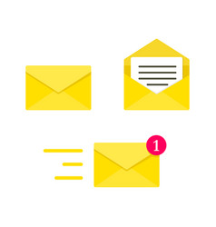 email envelope digital mail yellow envelope vector image