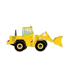 Excavator work Isolated vector