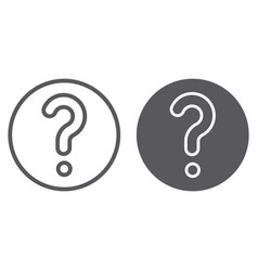 faq line and glyph icon question and help ask vector image