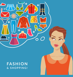 Fashion and shopping vector