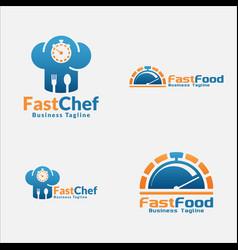 fast food logo for fast food service restaurant vector image
