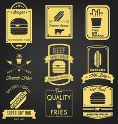 Fast Food Vintage Label vector