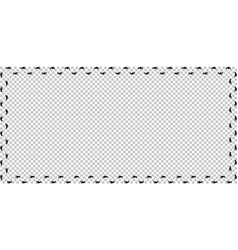 foot prints track border on transparent background vector image