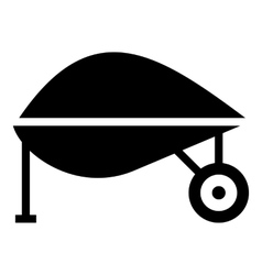 Gardening trolley icon simple style vector