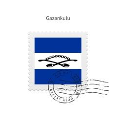 Gazankulu Flag Postage Stamp vector image vector image