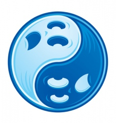 yin yang symbol transparent vector images over 4 2 million rh vectorstock com One Lonly Dolphin Underwater Baby Dolphin Yin Yang Silhouette