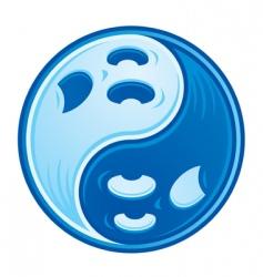 ghost yin yang vector image