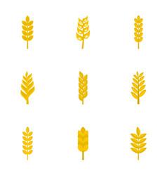 Grains icon set flat style vector