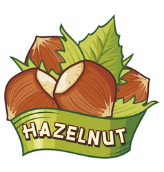 hazelnut label vector image