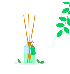 Incense sticks in diffuser aromatherapy for spa vector