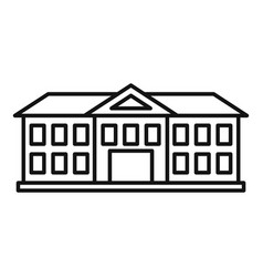 Institute building icon outline style vector