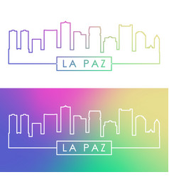 la paz skyline colorful linear style editable vector image