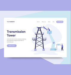 landing page template transmission tower vector image