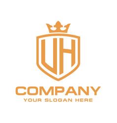 Letter uh initial logo luxury logo design vector