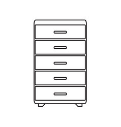 long drawer line icon vector image