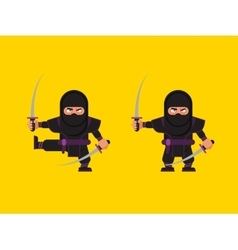 ninja character in a flat style vector image
